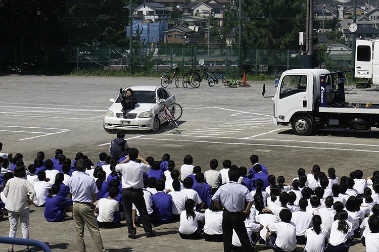 菅生中学校交通安全教室